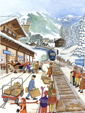Gstaad Greeting Cards