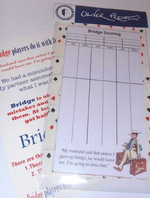 Bridge / Game Score Cards